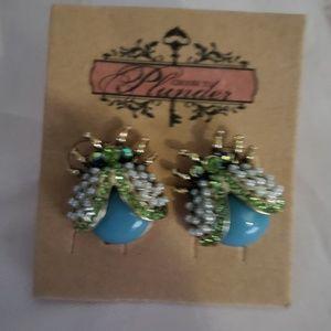New plunder lady bug earrings bling